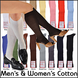 A Kabbaz-Kelly Exclusive: ExtraFine Two-Ply Egyptian Cotton Over-the-Calf/Knee-High Socks