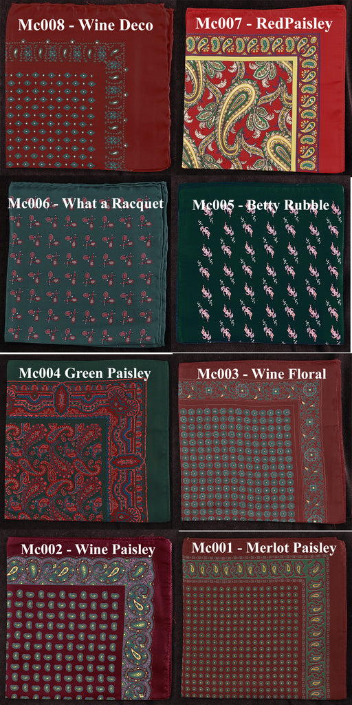 Necktie 4-Tie Multi-Pack 75% Off Retail Price Plus a Free Historic Macclesfield Pocket Square