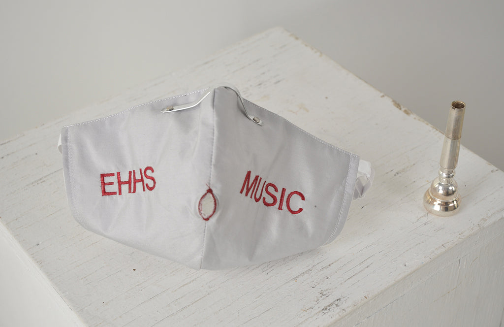 Letter Embroidery for Musician's Face Masks and Bell Covers