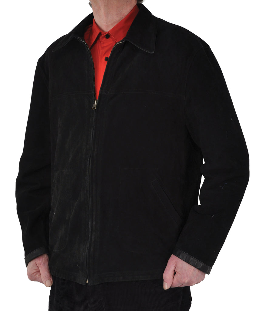 Zip Front <em>Classic</em> Men's Bespoke Reversible Leather Jacket