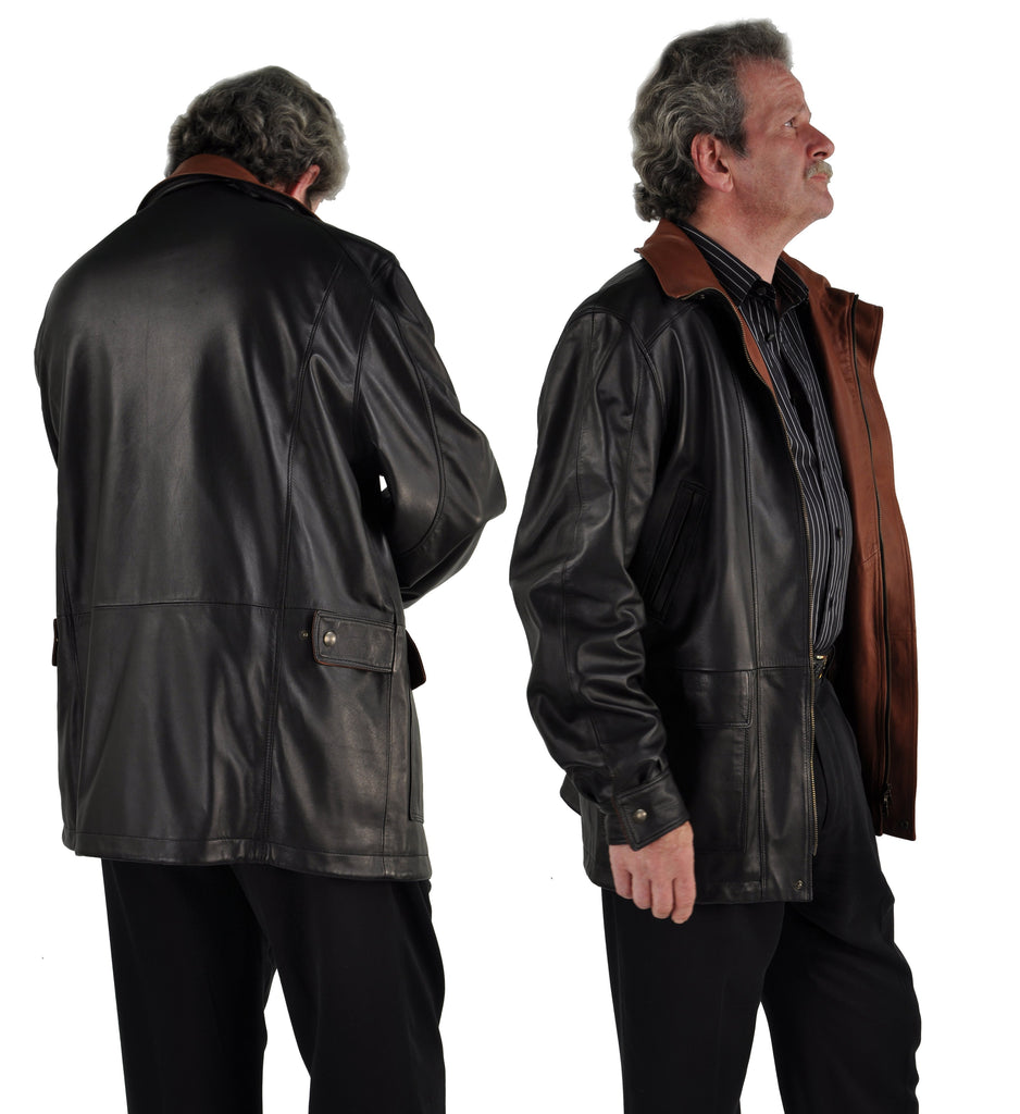 Men's Bespoke Leather Car Coat