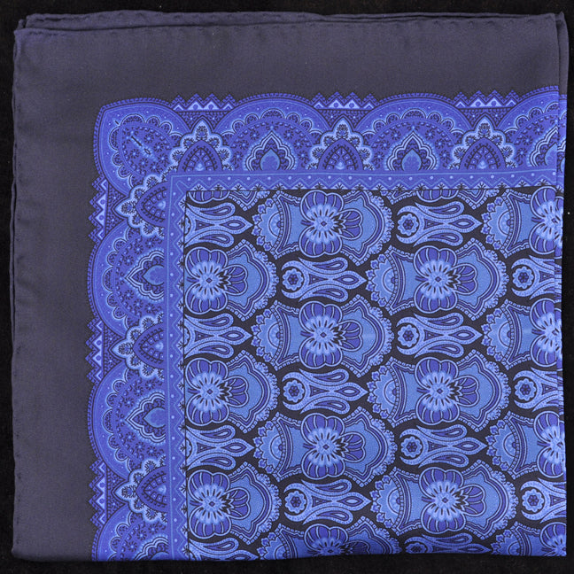 Italian Hand Rolled Pure Silk Pocket Square