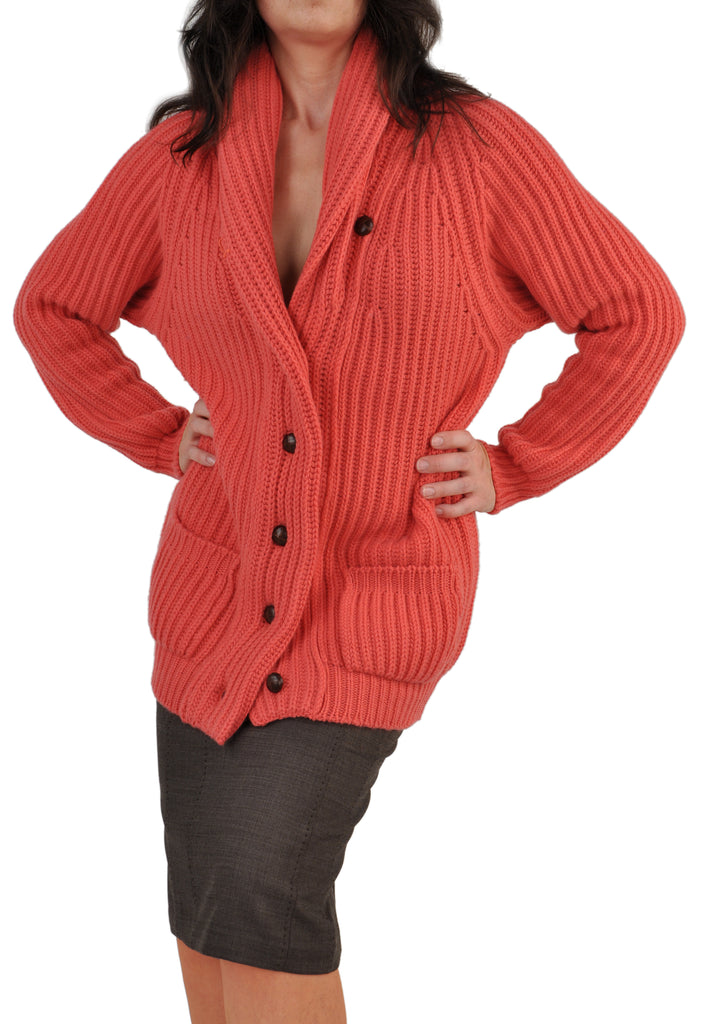 Twelve-Ply Women's Custom Made Cashmere Cardigan Sweater