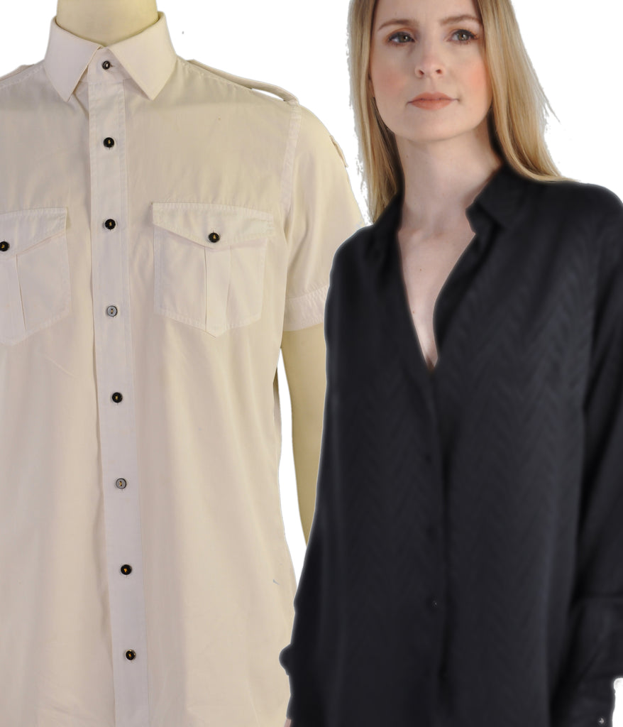 A Kabbaz-Kelly Bespoke Shirt/Blouse: 200s Two Ply Duecento Cottons