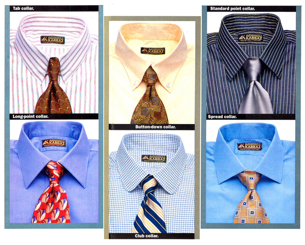 A few popular collar styles