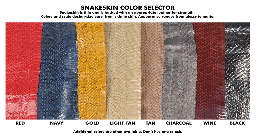Snakeskin Color Selector - Call for Custom Colors