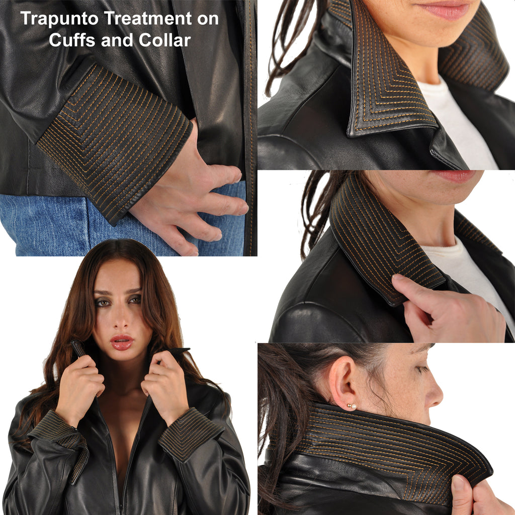 Reversible <em>Anna</em> Women's Contemporary Bespoke Lambskin Jacket