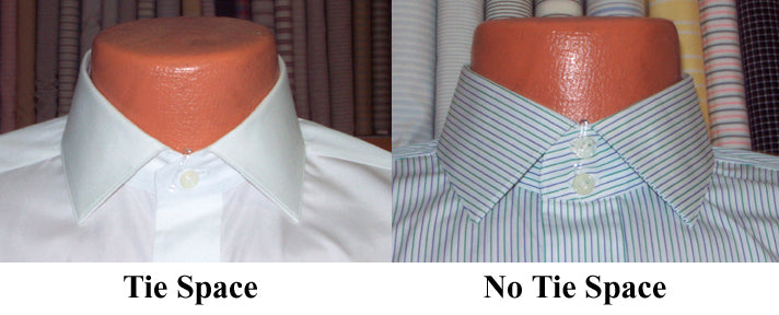 Thicker Ties and Close Point Collars need extra Tie Space