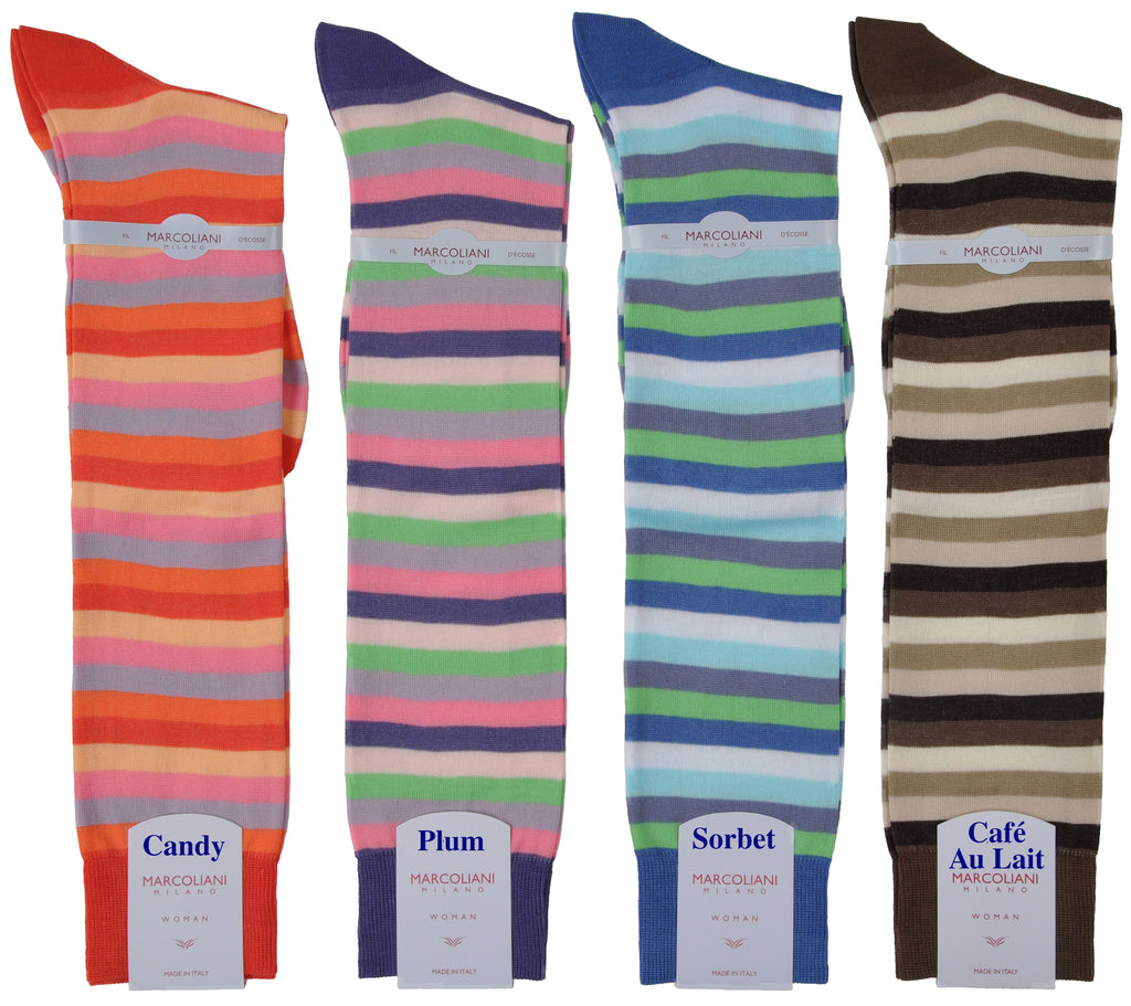 Bold Knee-High Rigatto Skipper Stripe Sock