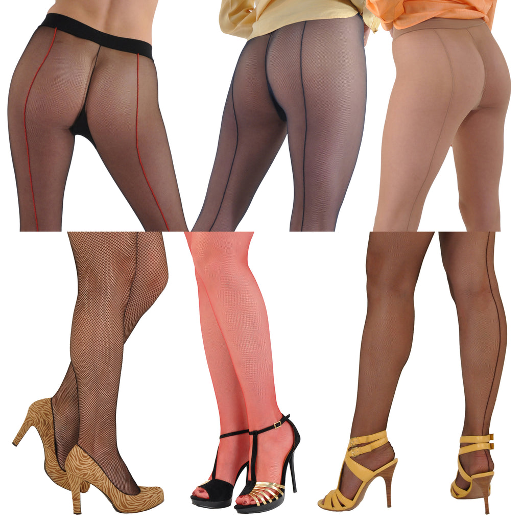 Gerbe-Paris Sevilla Elegant Micro-Fishnet Rear-Seamed French Pantyhose Tights
