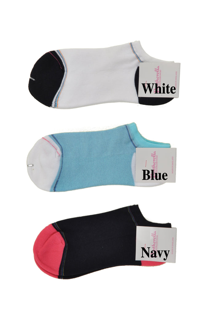 Pantherella MicroCushion Cotton Sole Trainer Length Athletic Socks