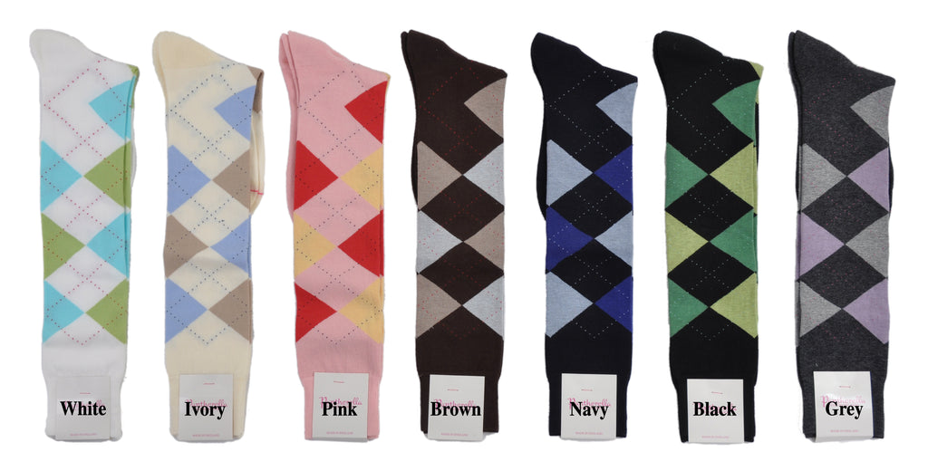 Pantherella MicroCushion Sole Cotton Knee-High Argyle Socks
