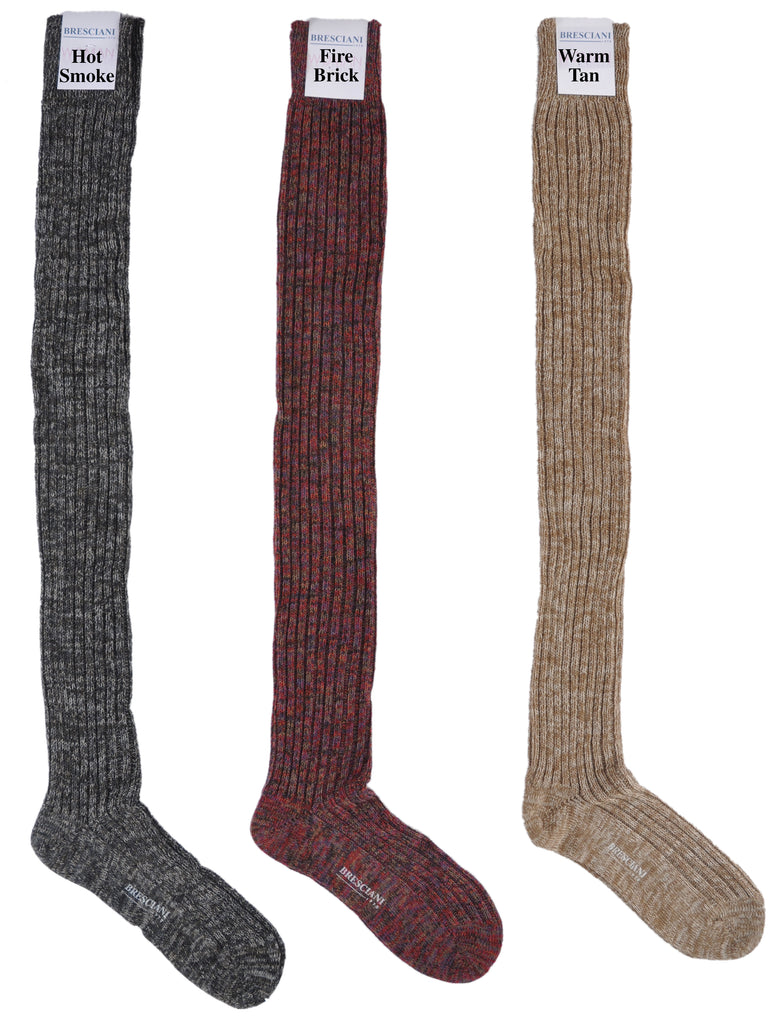 Boot Socks: Heathered ExtraFine Merino Over-the-Knee