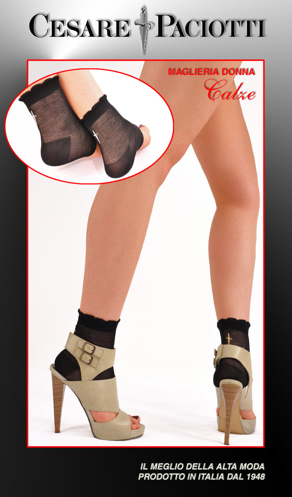 High Fashion Sword Back Toeless Socks
