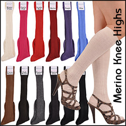A World's Finest Selection: ExtraFine Merino Elite Rib Knee-High Socks