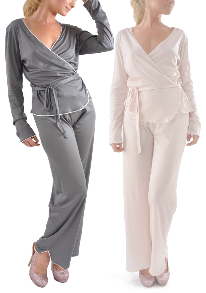 Zimmerli Luxury Long Wrap Pajama Set