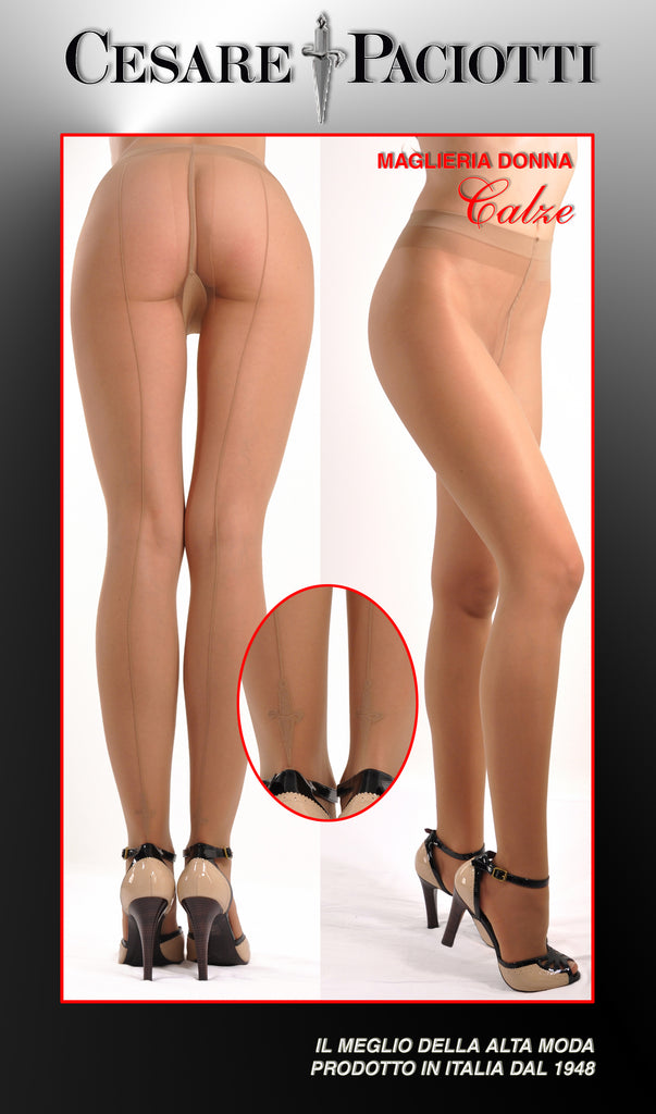 Sword Motif Sheer Pantyhose Tights