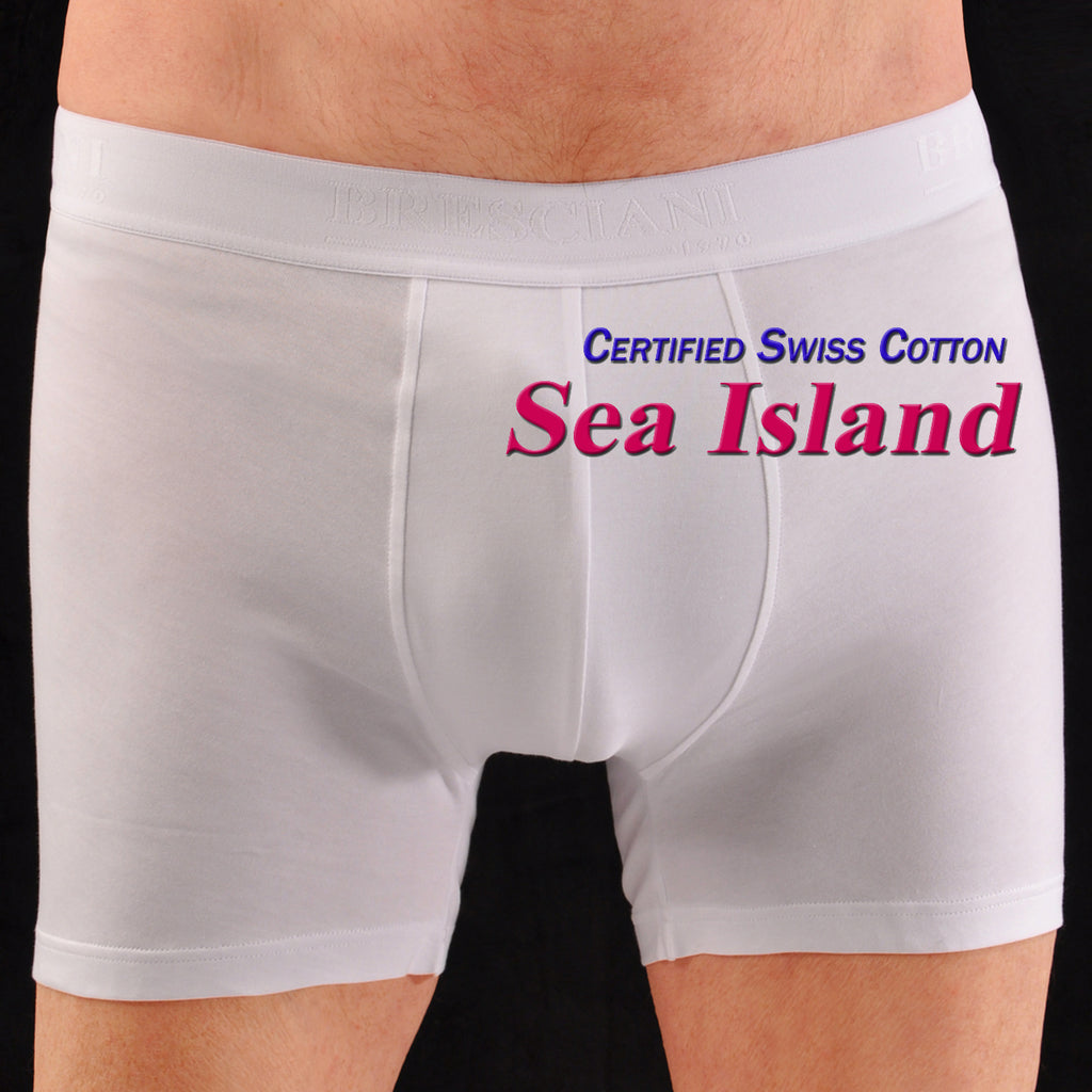 Bresciani Pure Sea Island Cotton Closed Fly Boxer Short