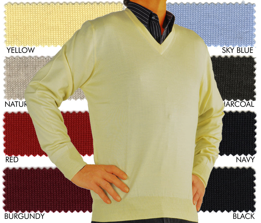 Italian ExtraFine Merino Wool V-Neck Sweater