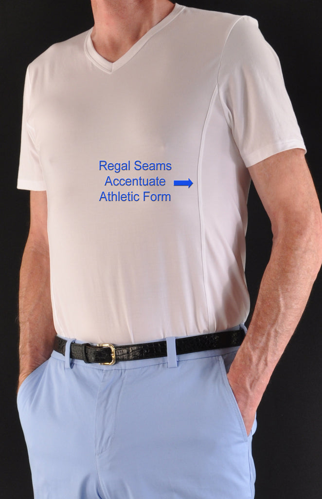 Slimming Regal Seams Accentuate Athletic Form