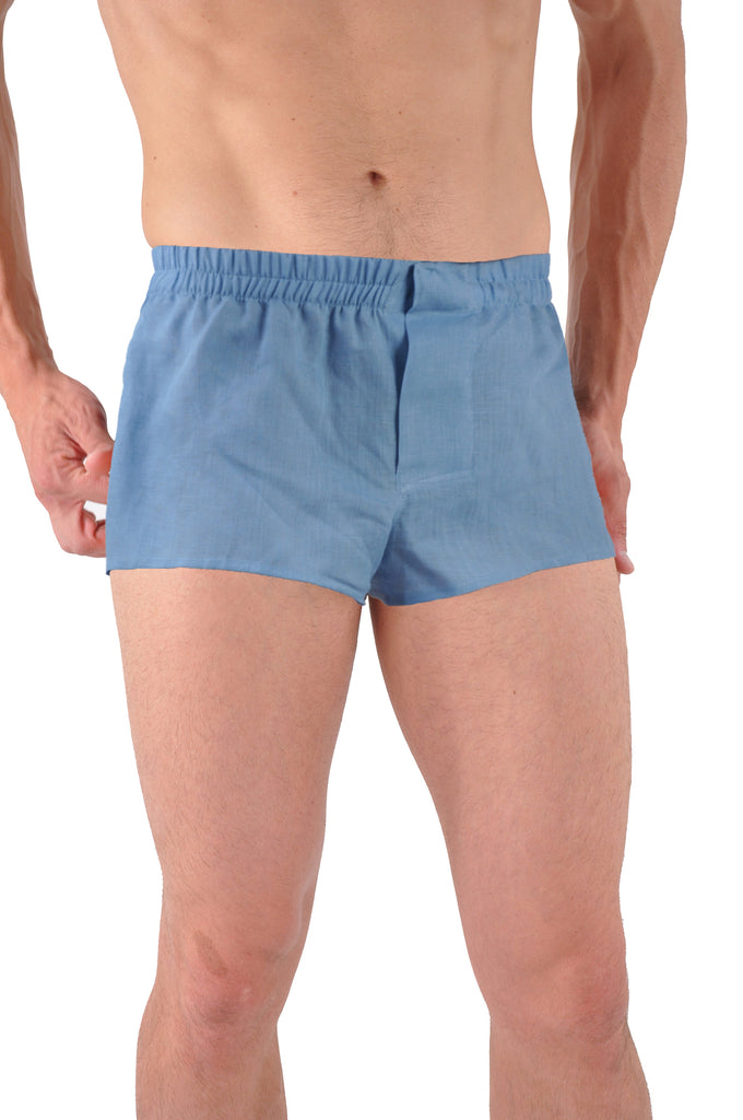 Short Eurostyle length - Shown in blue linen