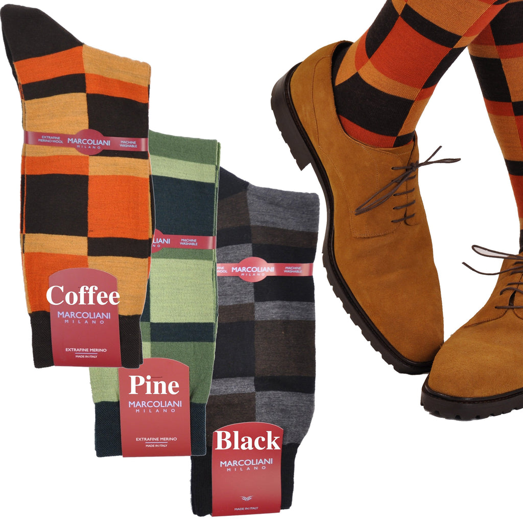 ExtraFine Merino Mid-Calf Fancy Astratto Dress Socks