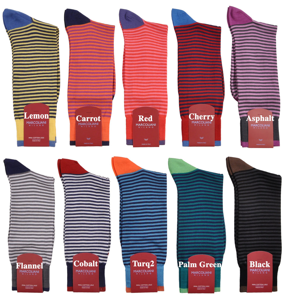Horizontal Casual Palio Candy Stripe Mid-Calf Sock