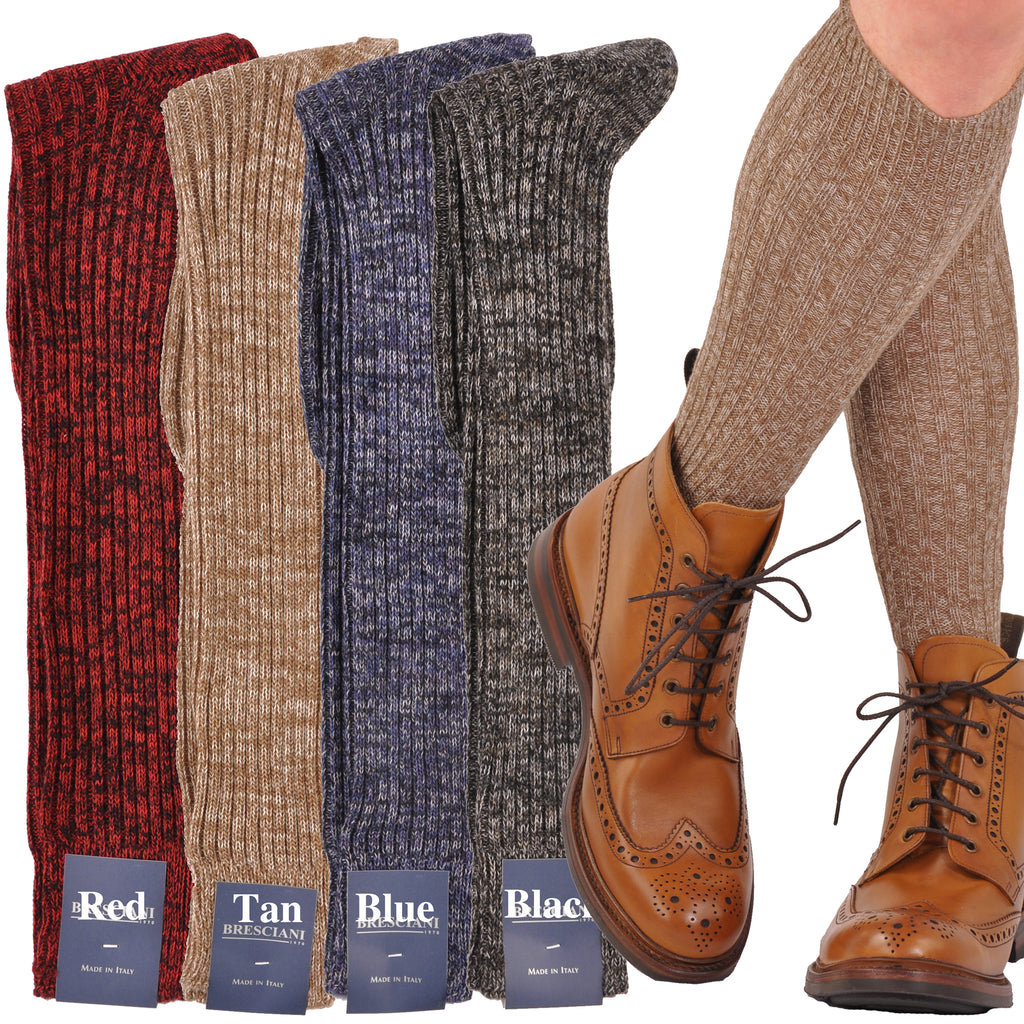 ExtraFine Merino Over-the-Calf Heathered Boot Socks