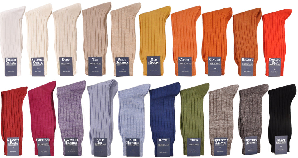 Linen: Rare Long Mid-Calf 100% Linen Socks