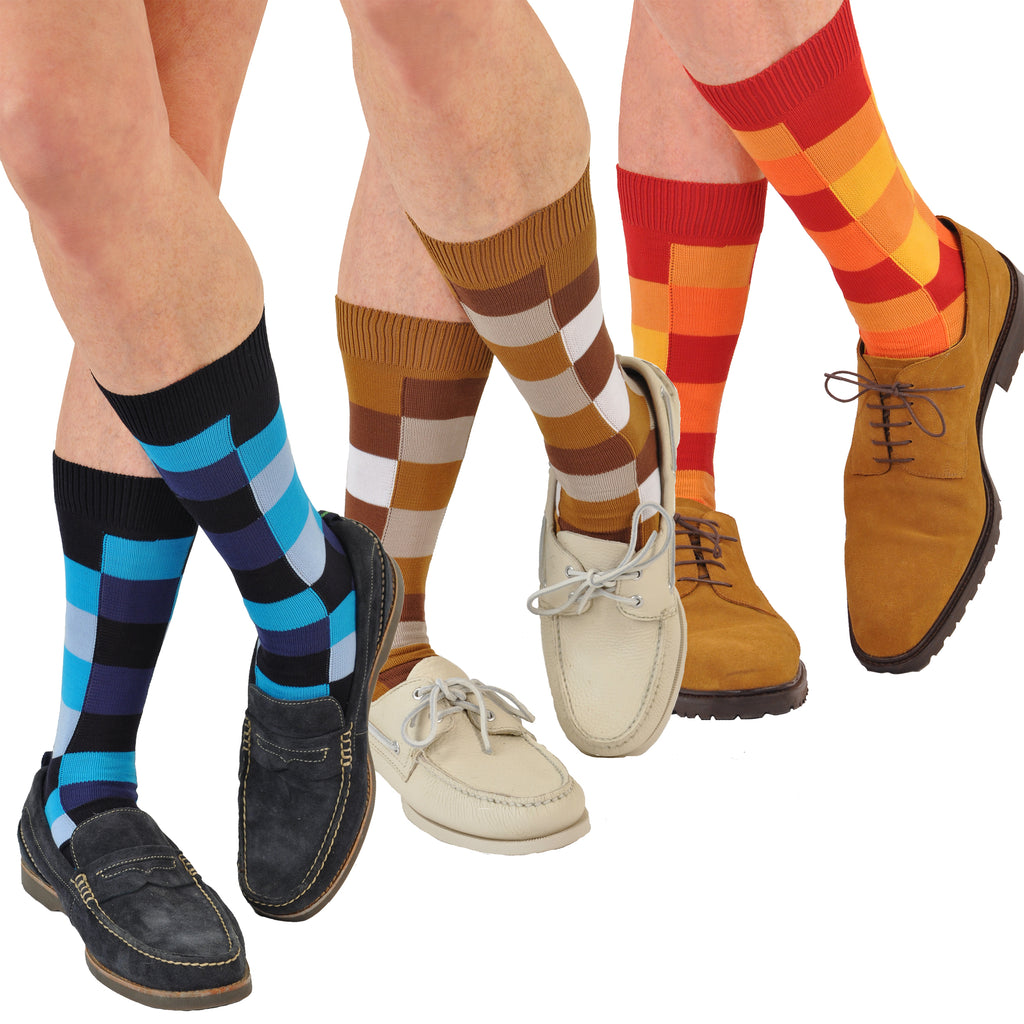 Rubik's Cube Soft Cotton Mid-Calf Socks