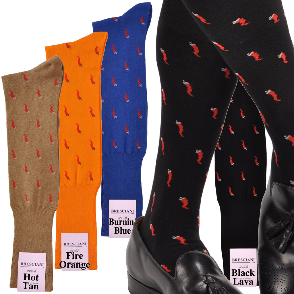 Hot Damn Chili Peppers Over-the-Calf Cotton Fun Socks