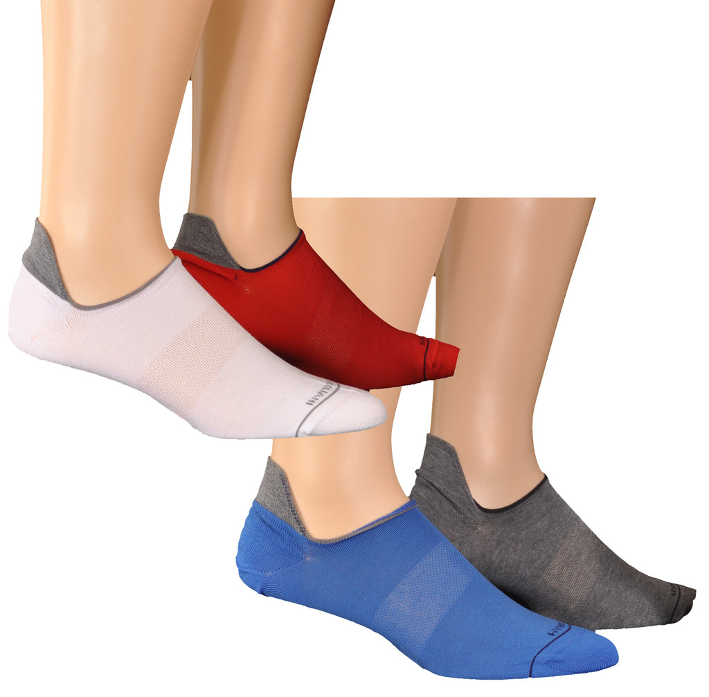 Pima Cotton Invisible Touch Pull-Tab UniSex Sneaker Socks