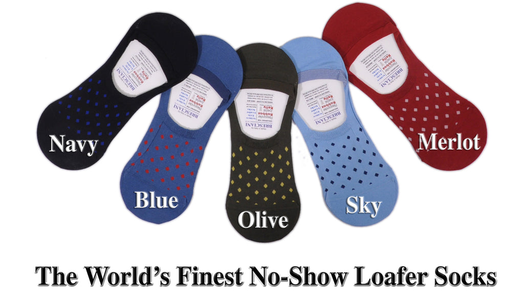 A World's Finest Selection: Cotton No-Show Fancy Dots Loafer Socks