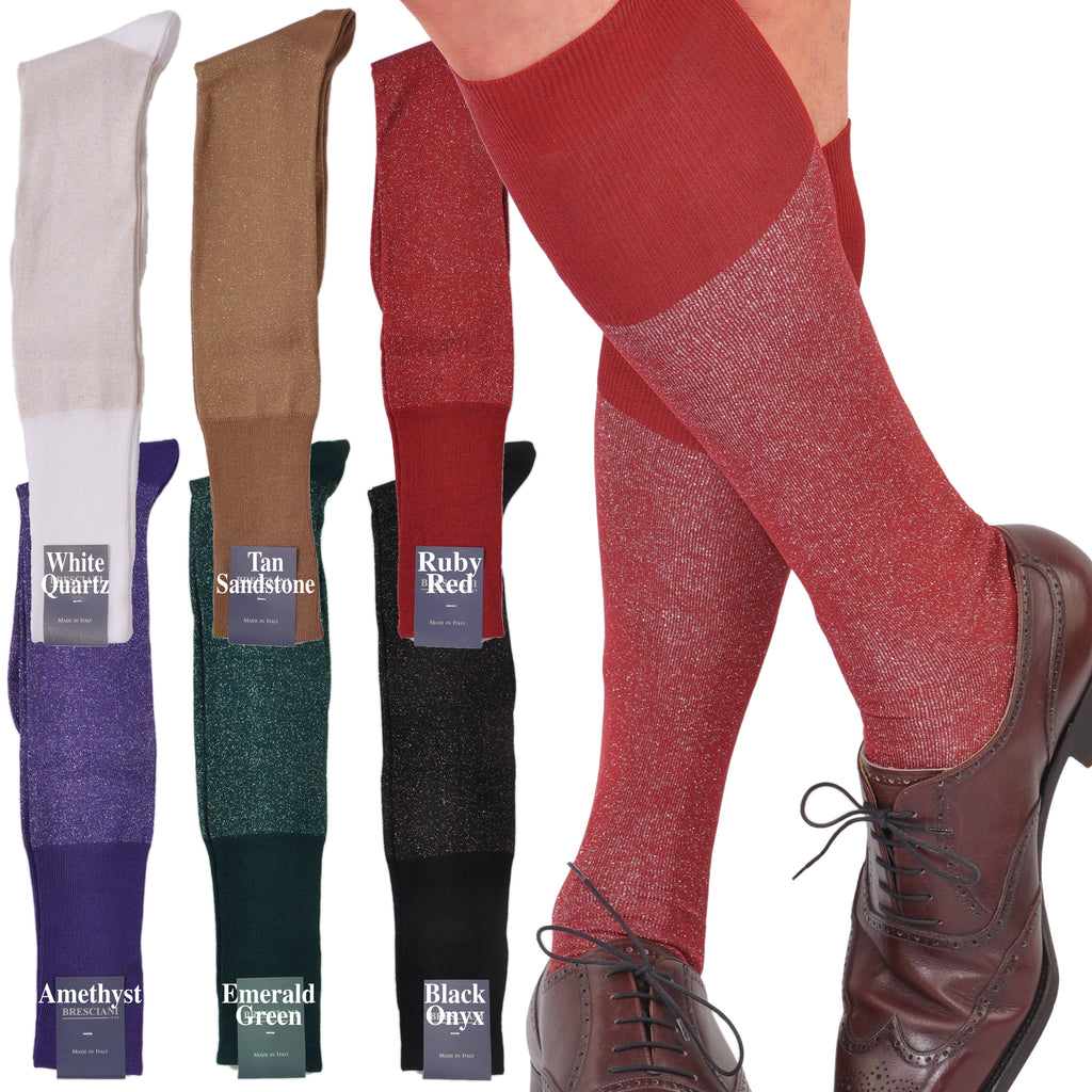 Sophisticated Brilliance Egyptian Cotton Over-the-Calf Socks