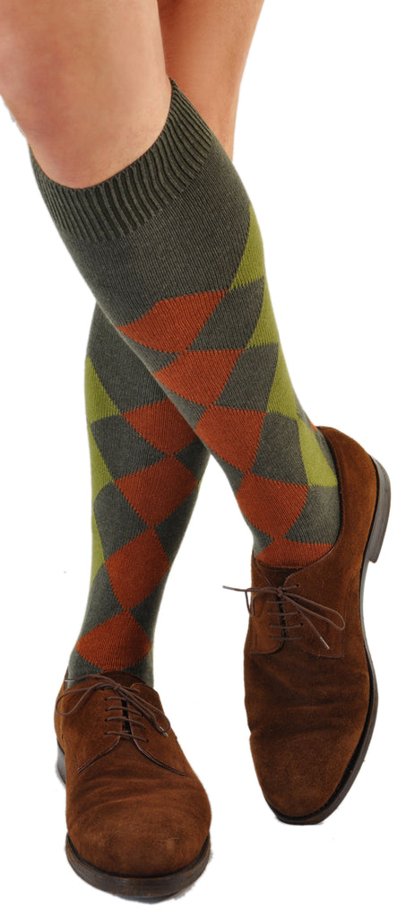 Green/Rust (Shown in Over-the-Calf/Knee-High Length)