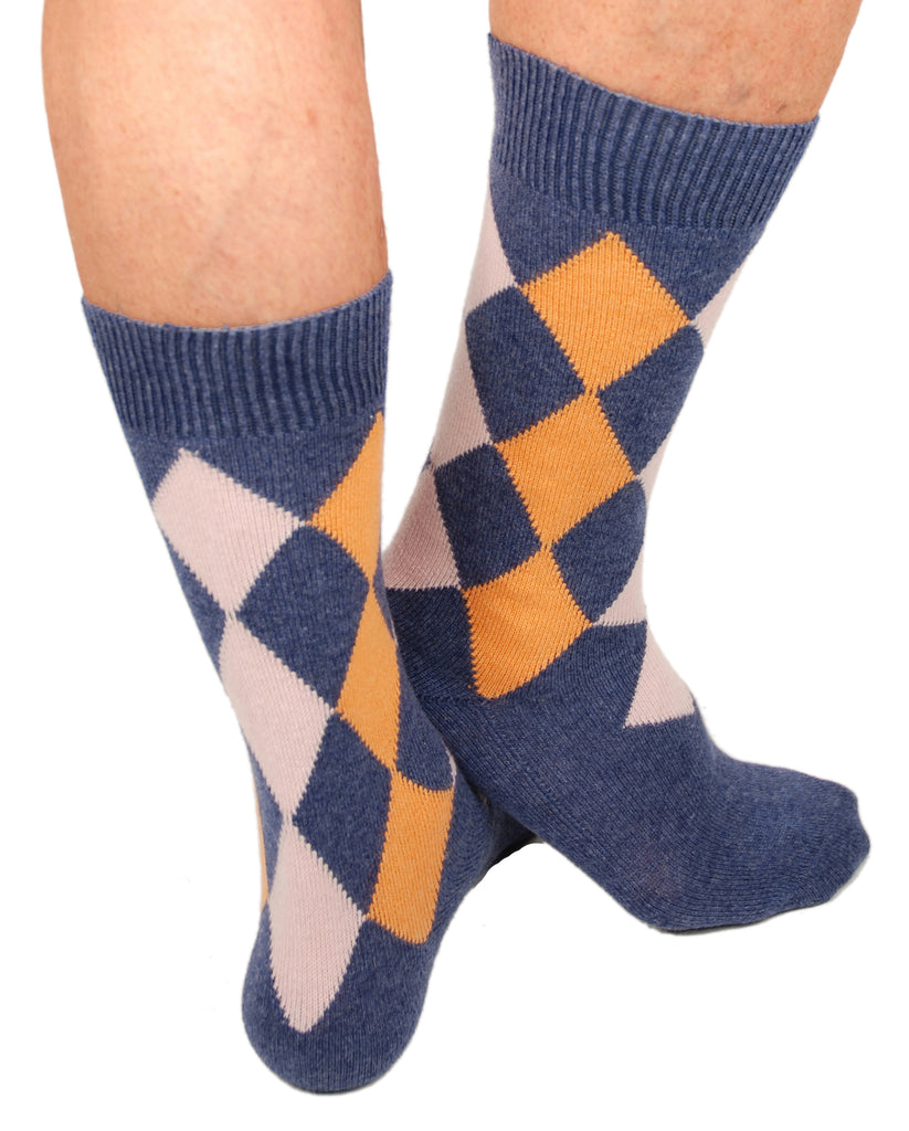 Peach/Blue (Shown in Mid-Calf Length)
