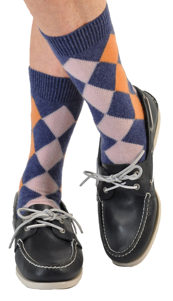 Peach/Blue (Shown in Mid-Calf/Trouser Length)