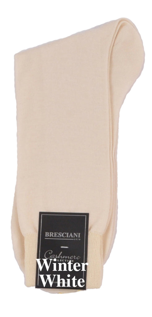 Bresciani's World's Finest Mid-Calf/Trouser Length Pure Cashmere Dress Socks-Exclusive