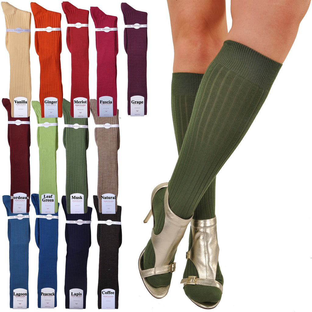 Marcoliani Women's Merino Knee High Dress Socks