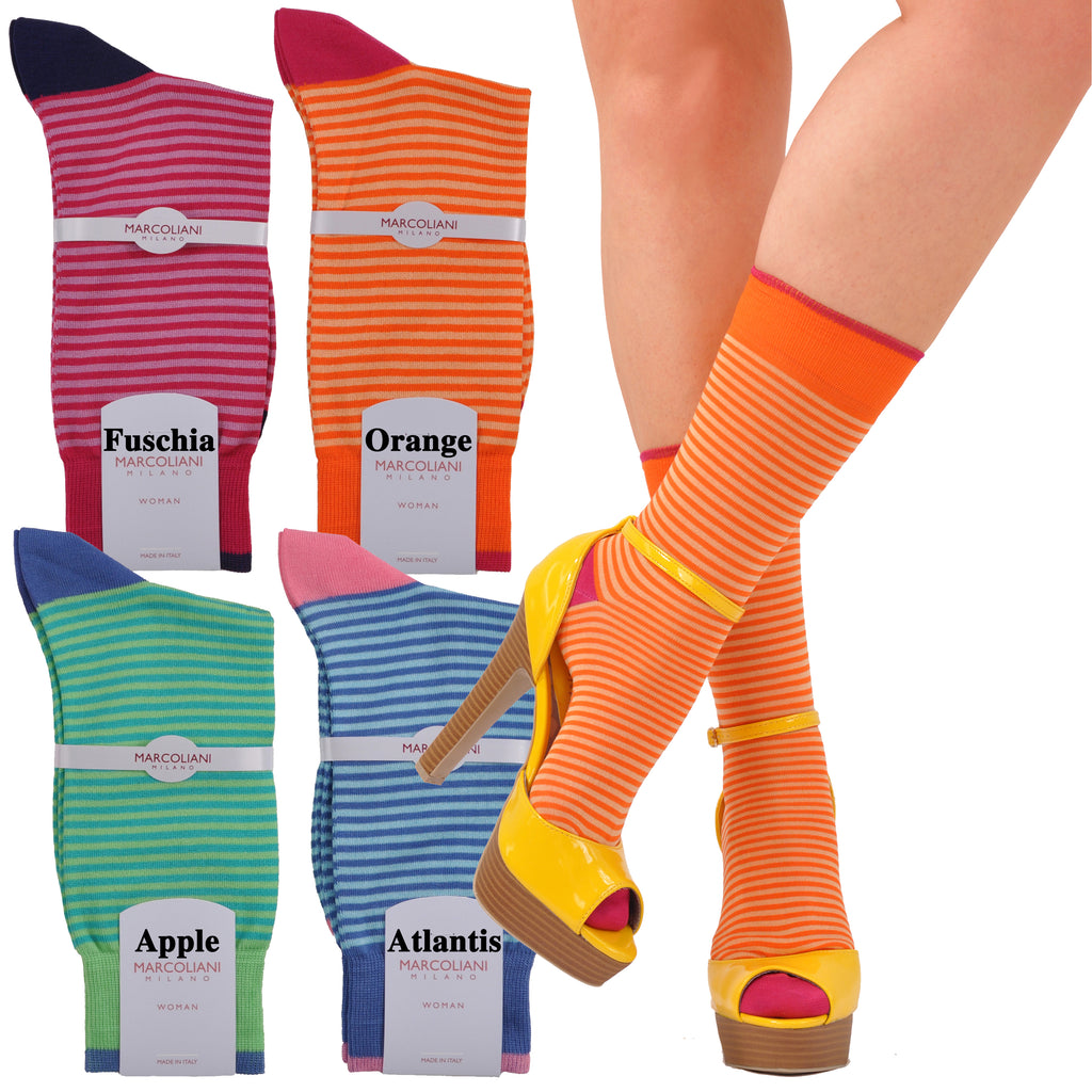 Cute Sophisticates Ankle Length Palio Stripe Sock