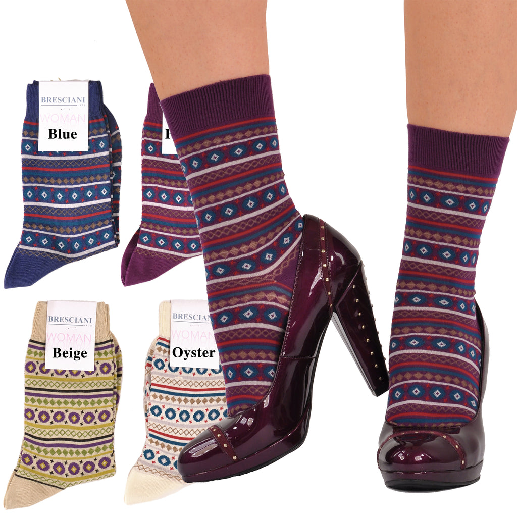 Short Ankle Length Scandanavian Donna Socks