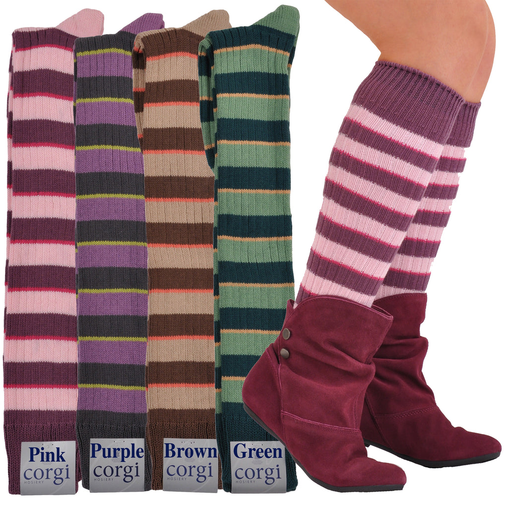 Limited Edition Exclusive Soft Cotton Knee-High Stripe Socks