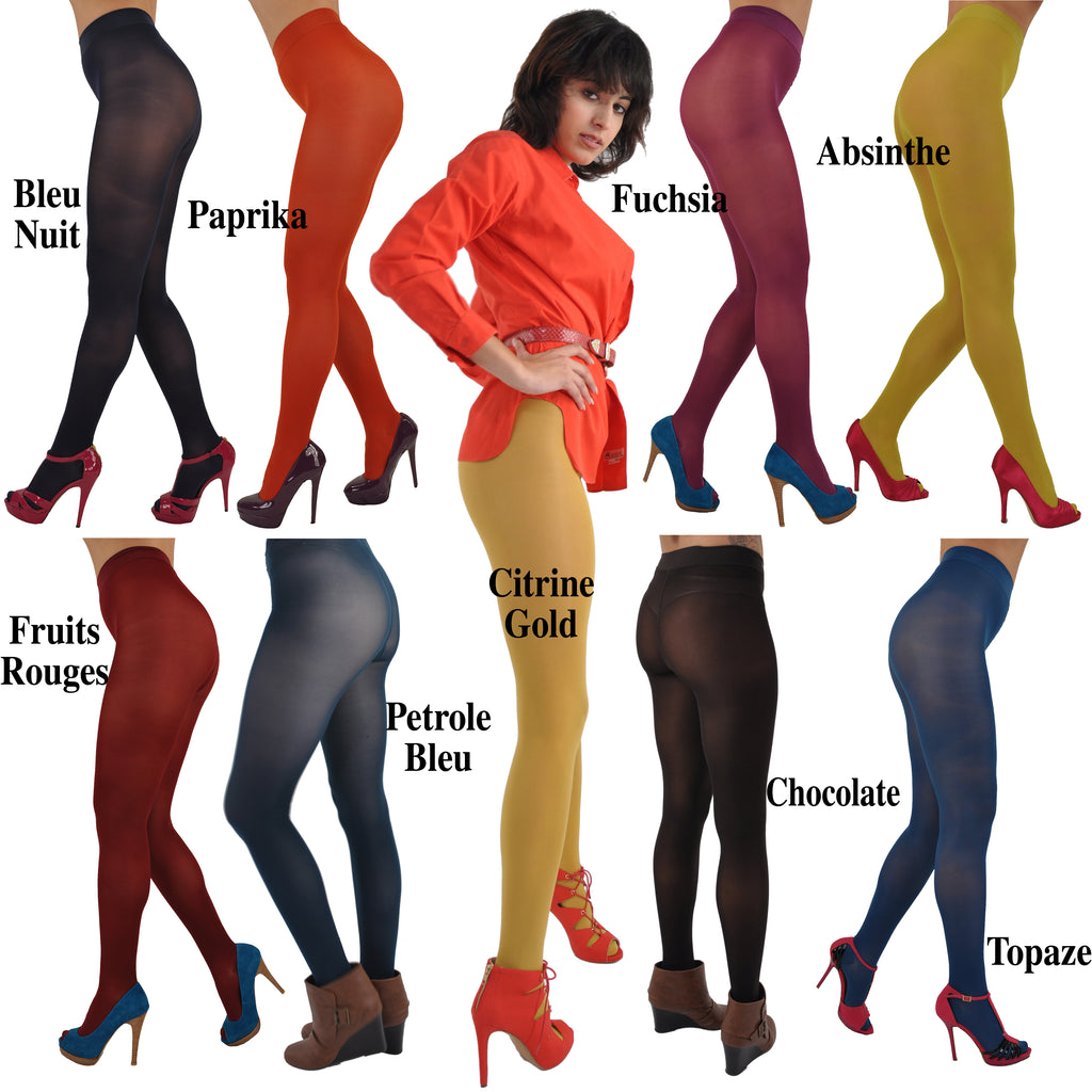 Gerbe-Paris Futura 40 Opaque Satiny French Pantyhose Tights