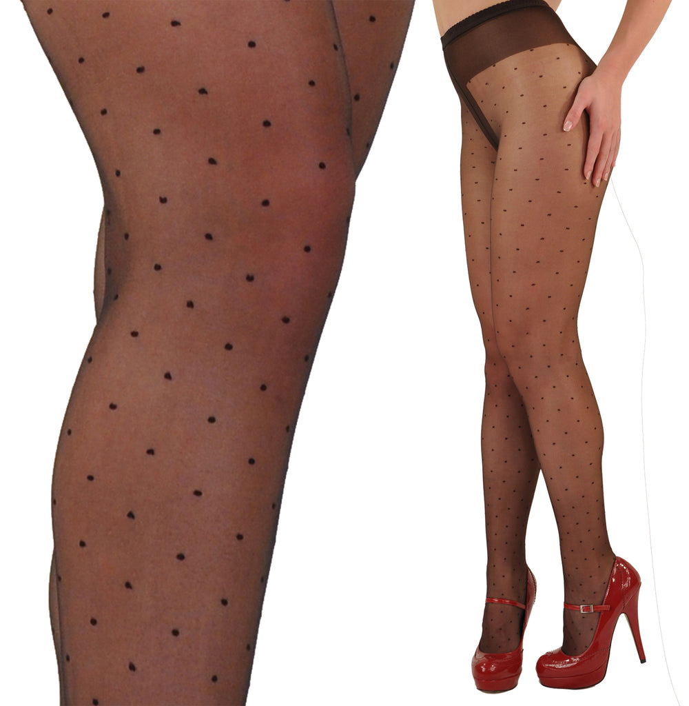 Gerbe-Paris Plumetis 10 Steer Matte Dotted French Pantyhose Tights