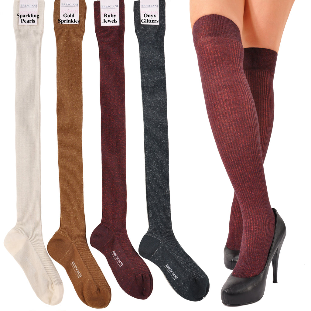 ExtraFine Merino Over-the-Knee Glitter Socks