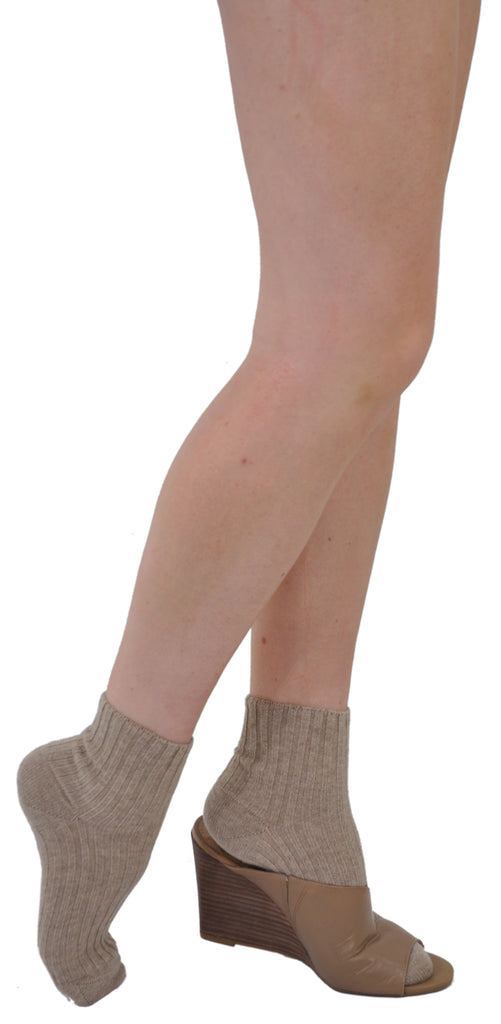 Cashmere Shortys  - Bresciani's Ultimate Luxury: Warm & Soft Perfect Fashion or Bed Socks