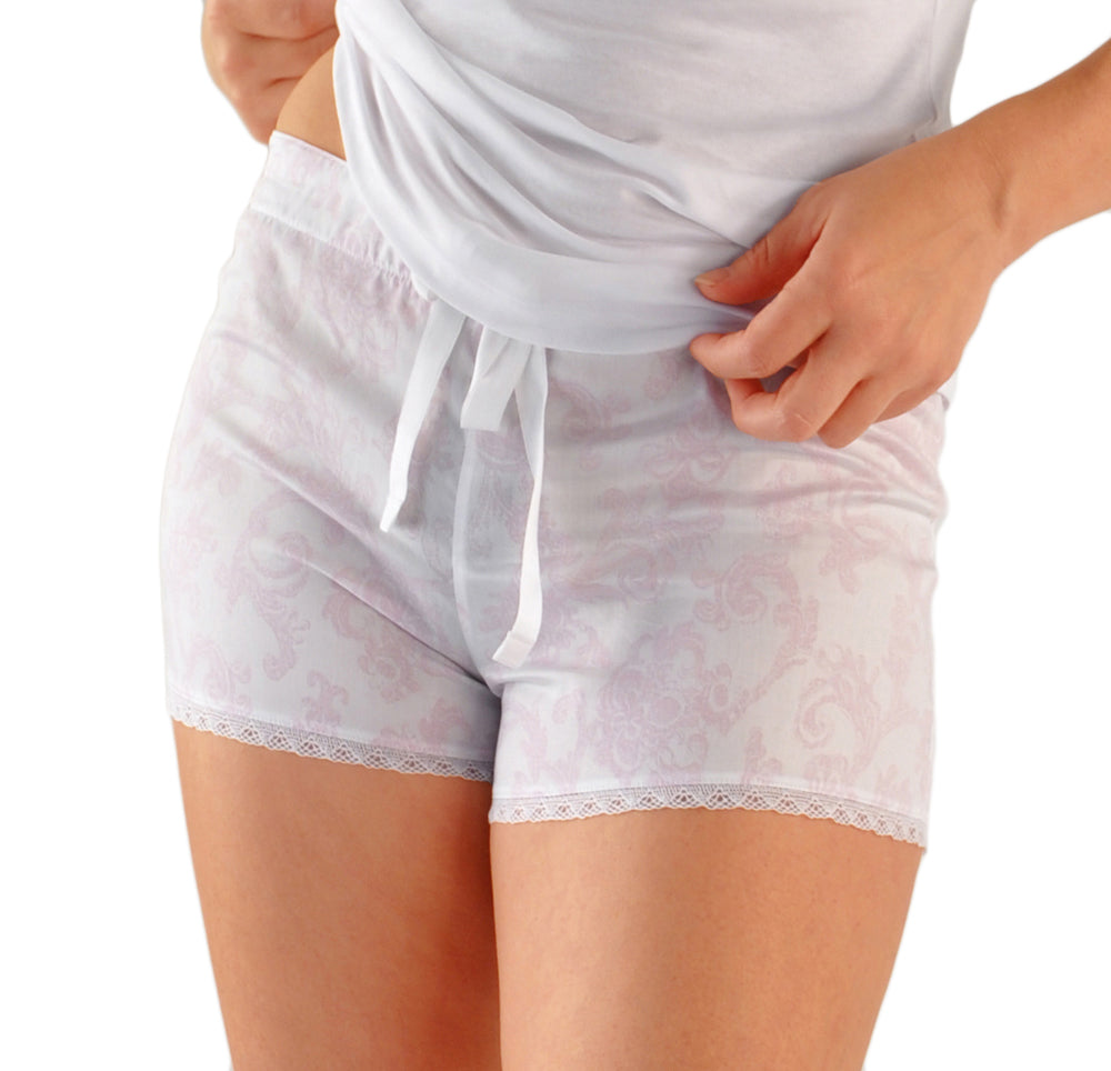 Silver Orchid Hot Shorts