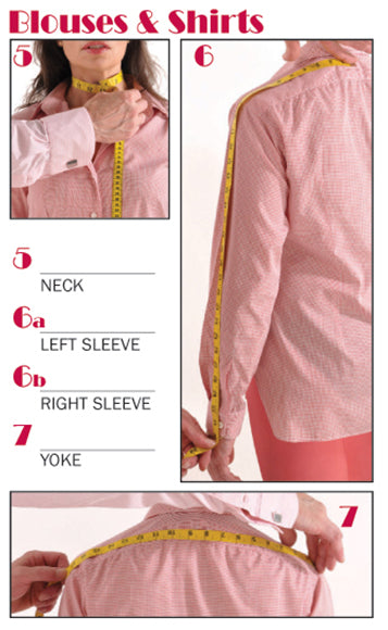 Measuring Shoulder Yoke and Sleeve Length