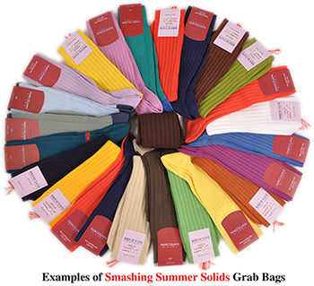 Smashing Summer Solids Sock Grab Bags