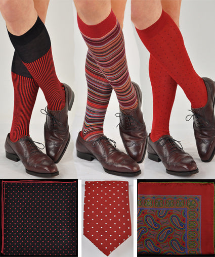 Wine Colored Sock Coordinates